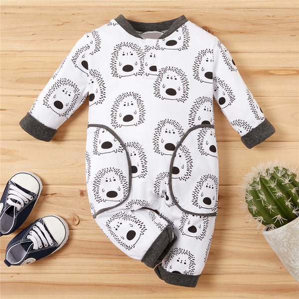 Baby Unisex Cartoon Printed Long Sleeve Romper Baby Clothes Cheap Wholesale