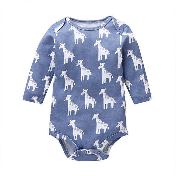 Baby Cartoon Printed Long Sleeve Rompers