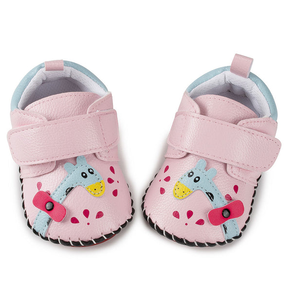 Baby Girls Cartoon Printed Non Slip Magic Tape Flats Shoes