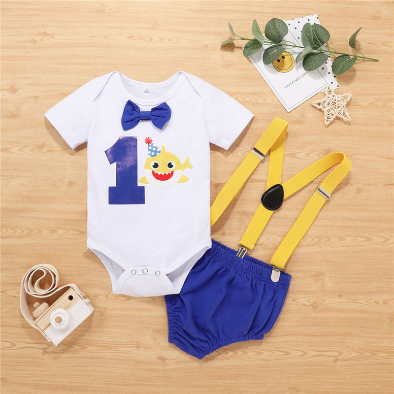 Baby Boys Cartoon Printed Short Sleeve Romper & Overalls Buy Baby Clothes Wholesale