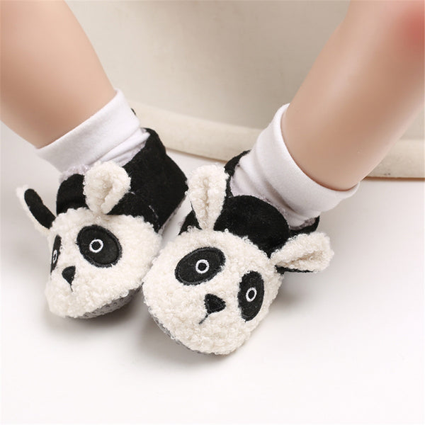 Baby Unisex Cartoon Slip On Fur Flats Children Wholesale Shoes