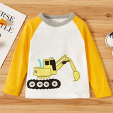 Boys Cartton Cartoon Print Long Sleeve Casual T-Shirts