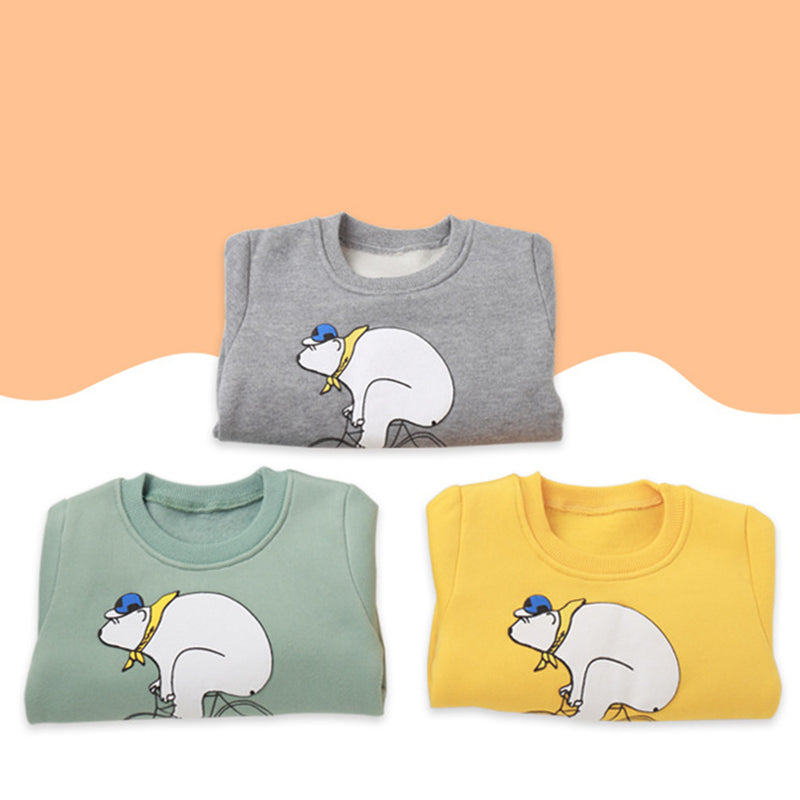 Boys Casual Cartoon Printed Long Sleeve Tops Wholesale