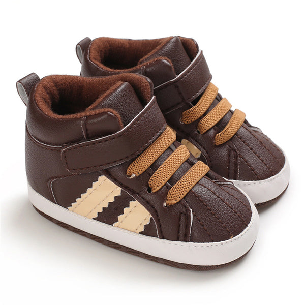 Baby Boys Casual High Top Non-slip Magic Tape Sneakers
