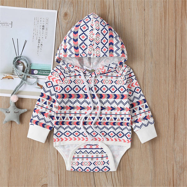 Baby Casual Hooded Long Sleeve Rompers