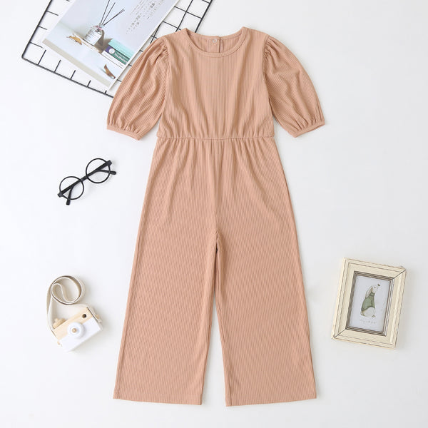 Girls Casual Long Sleeve Jumpsuits