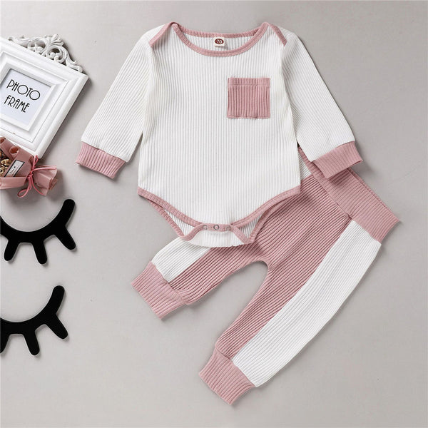 Baby Unisex Casual Long Sleeve Romper & Pants Cheap Boutique Baby Clothing