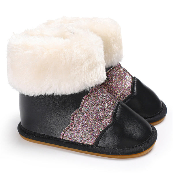 Baby Girls Casual Winter Fur Boots Cheap Kid Shoes Wholesale