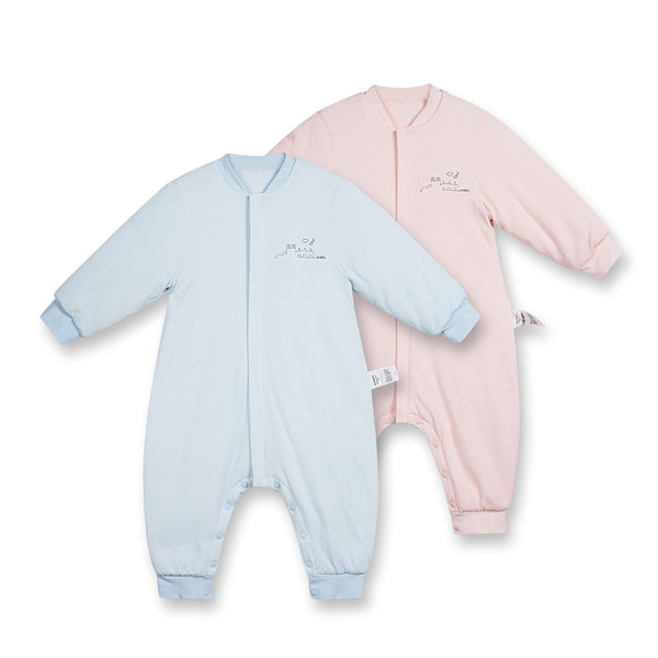 Baby Casual Zipper Long Sleeve Split Leg Cotton Baby Accesories Wholesale
