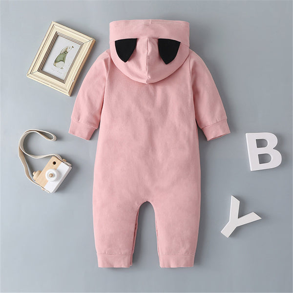Baby Cat Long Sleeve Hooded Romper