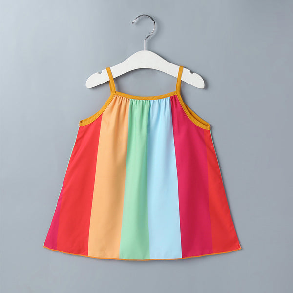 Children'S Skirts New Dress Baby Girls Summer Korean Version Of The Rainbow Suspender Dress Girls Dress Wholesale