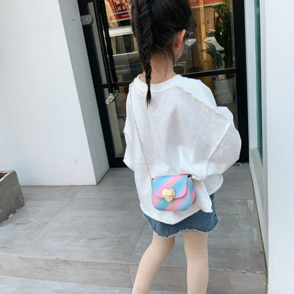 Children's One-shoulder Sequin Crossbody Bag Children's Bags Wholesale