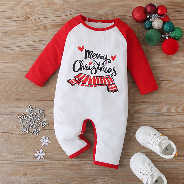Baby Unisex Christmas Color Block Romper Baby Clothes Suppliers
