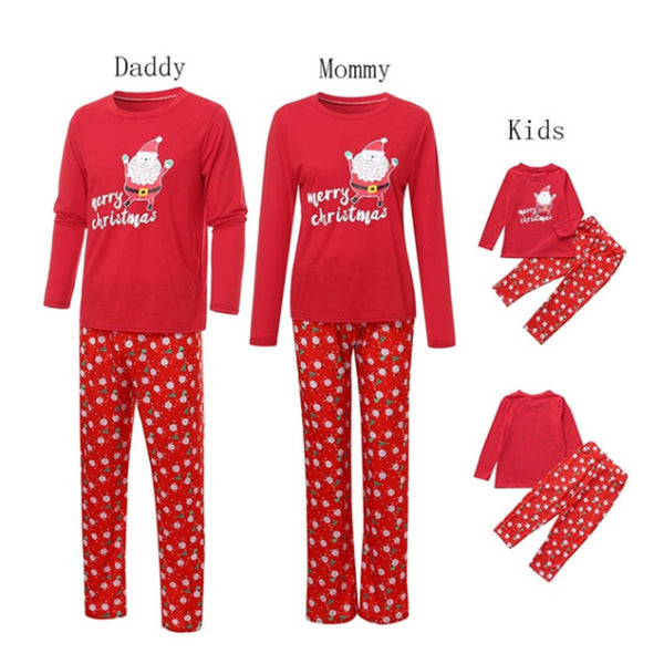 Parent-Child Christmas Letter Printed Pajamas Mommy And Me Outfits Wholesale