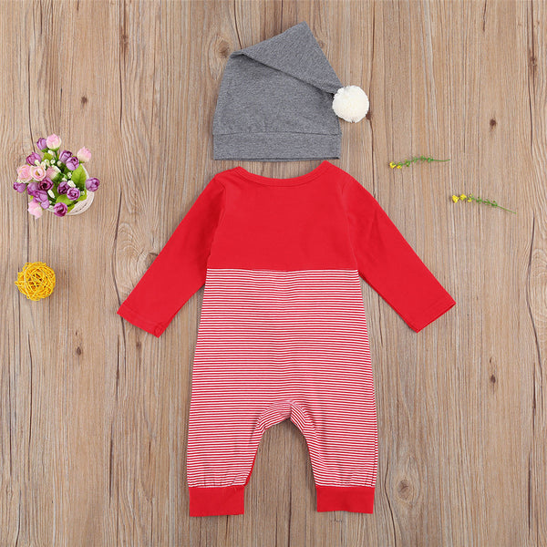 Baby Christmas Striped Long Sleeve Cartoon Romper Buy Baby Clothes Wholesale