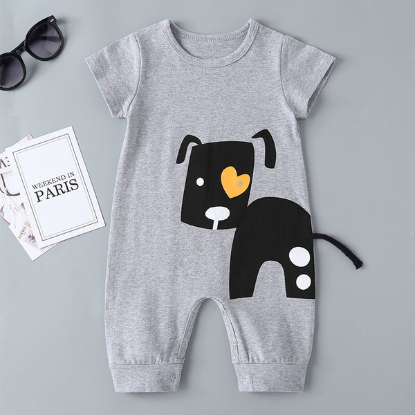 81PCS Clearance & Closeout Specials Baby Boy Puppy Short Sleeve Romper Wholesale Clothing Baby