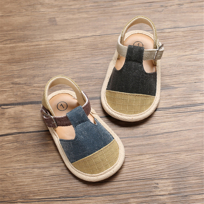Baby Boys Closed Toe Adjustable Buckle Sandals Baby Shoes Wholesale