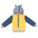 Boys Color Block Crocodile Dinosaur Printed Hooded Jackets Wholesale