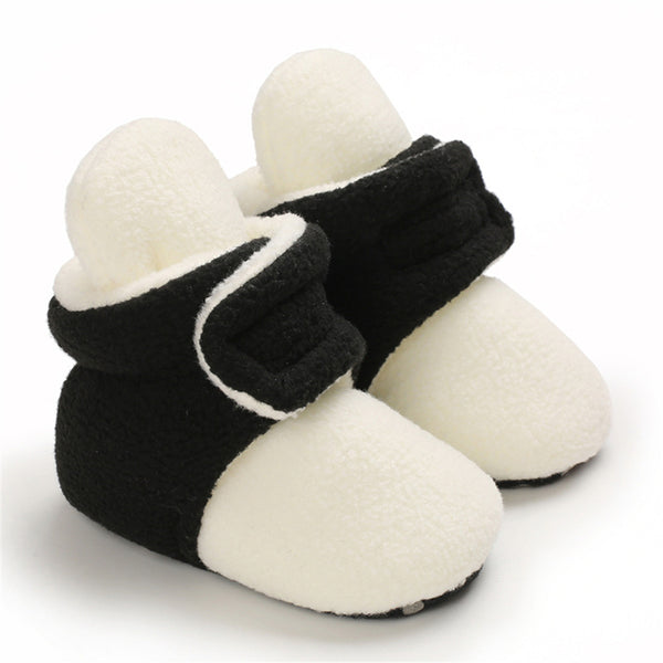 Baby Unisex Color Block Magic Tape Snow Boots Baby Shoes Wholesale