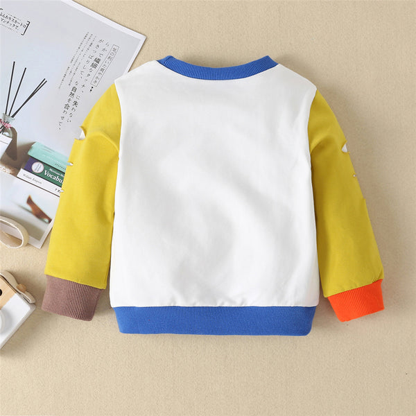 Baby Color Contrast Long Sleeve Ripped Tops Wholesale Baby Outfits