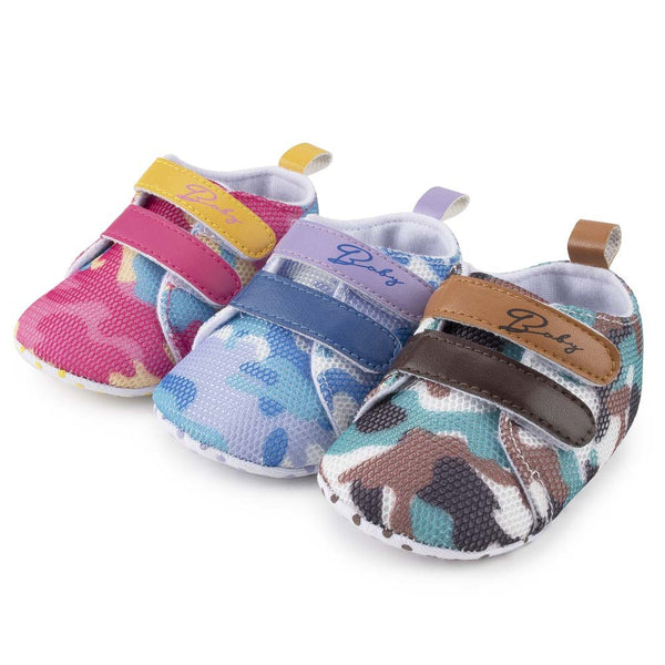 Baby Unisex Color Contrast Magic Tape All Season Shoes Baby Shoe Wholesale