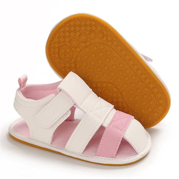 Baby Unisex Color Contrast Magic Tape Hollow Out Sandals Wholesale Baby Shoes Usa