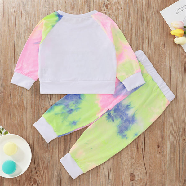 Baby Girls Crew Neck Long Sleeve T-shirt & Pants Wholesale Baby Cloths