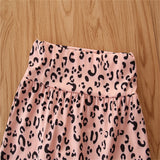 Baby Girls Crew Neck Short Sleeve Romper & Leopard Shorts Baby Clothes Cheap Wholesale
