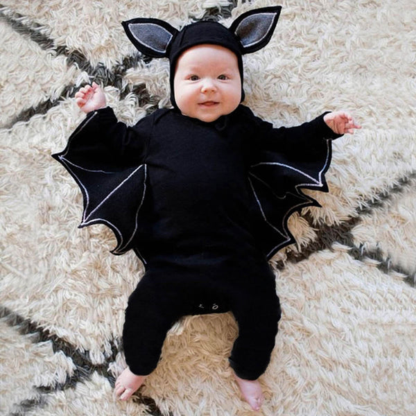 Baby Cute Bat Shape Romper & Hat Halloween Sets