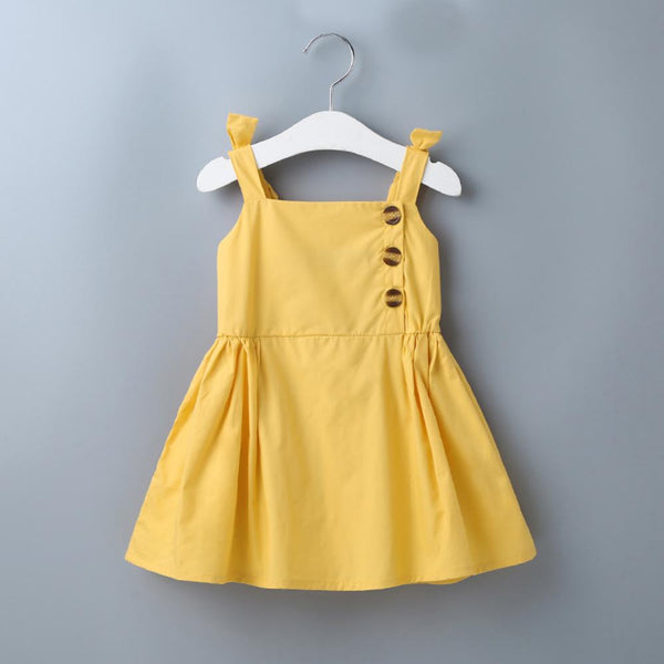 Cute Bow Sling Children'S Casual Dress Trendy Kids Wholesale Clothing