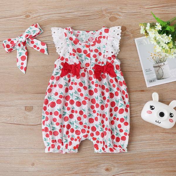 Cute Casual Climbing Suit Sleeveless Jumpsuit Baby Wholesale Clothing