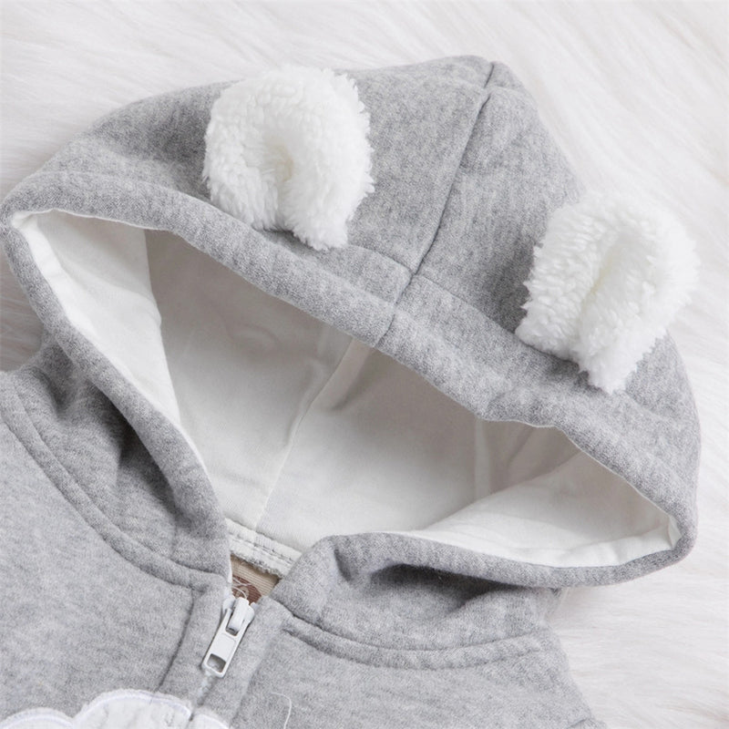 Baby Cute Cloud Hooded Zipper Jumpsuits