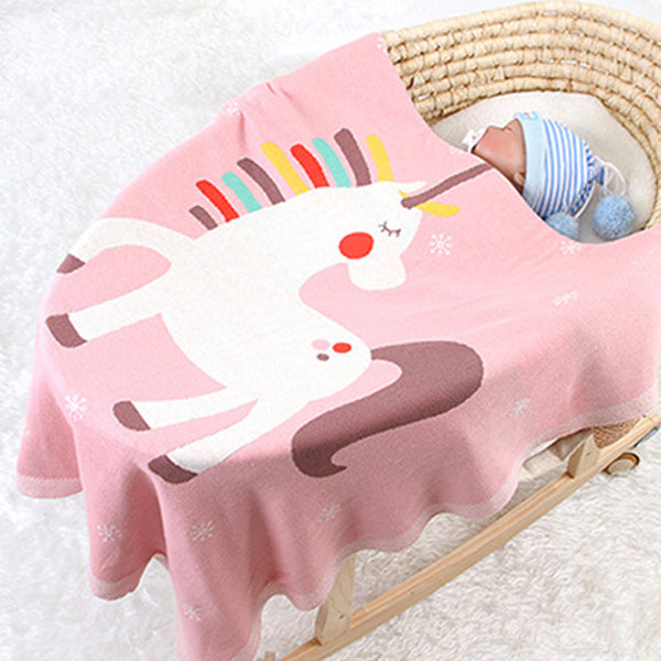 Baby Cute Unicorn Cartoon Cotton Baby Blankets Wholesale