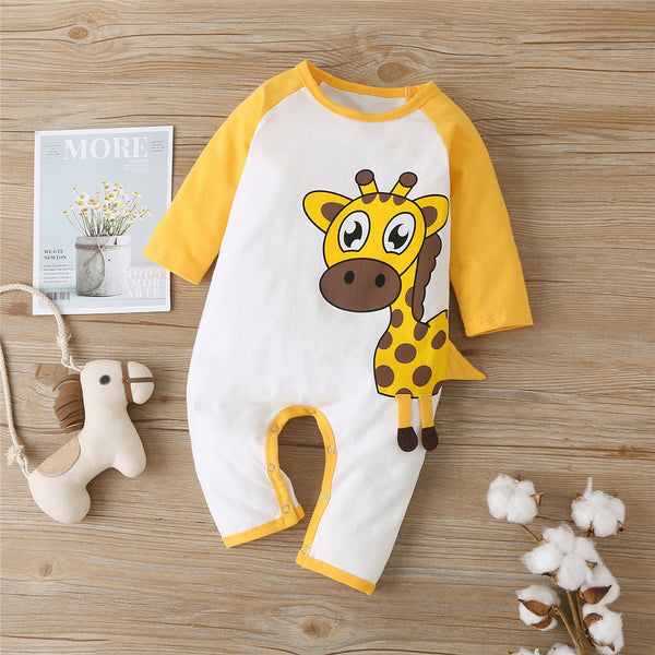 Baby Boys Dear Cartoon Long Sleeve Romper Cheap Bulk Baby Clothes
