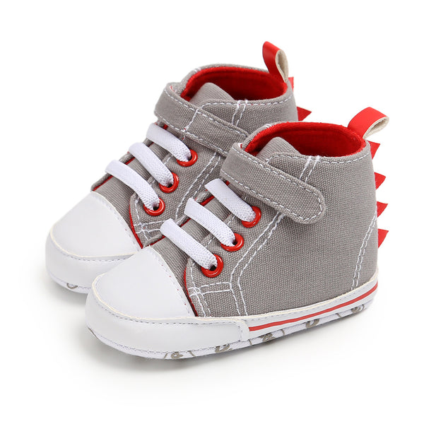 Baby Boys Dinosaur Canvas High Top Shoes Toddler Shoes Wholesale