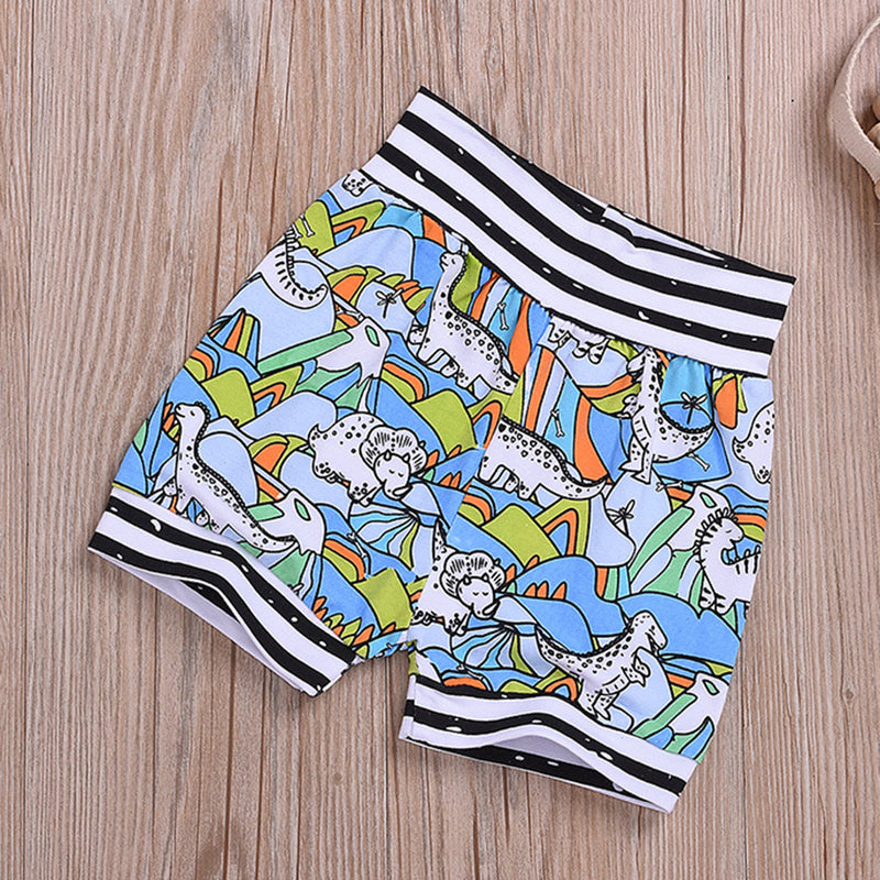 Baby Girls Dinosaur Letter Printed Short-sleeve Top & Shorts Wholesale Baby Clothes Suppliers
