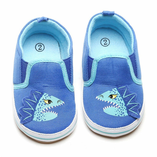 Baby Boys Dinosaur Print Slip On Sneakers