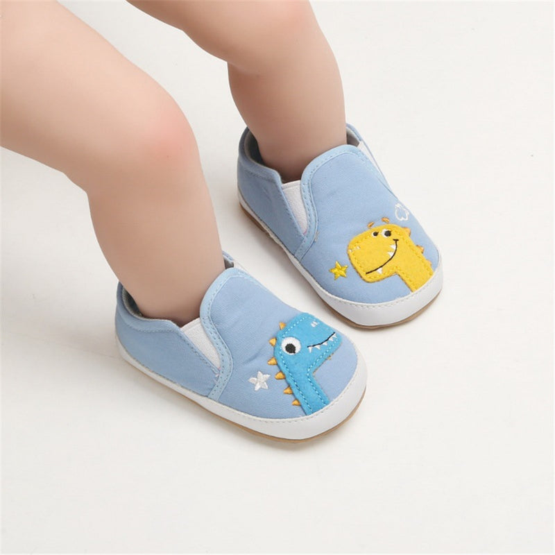 Baby Girls Dinosaur Slip On Canvas Sneakers