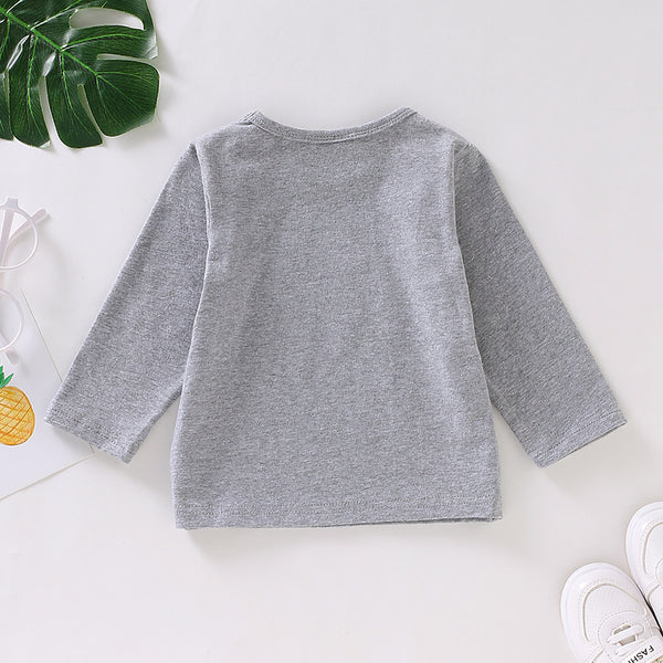 Baby Dream Big Little One Long Sleeve Crew Neck Top Baby Wholesale Suppliers