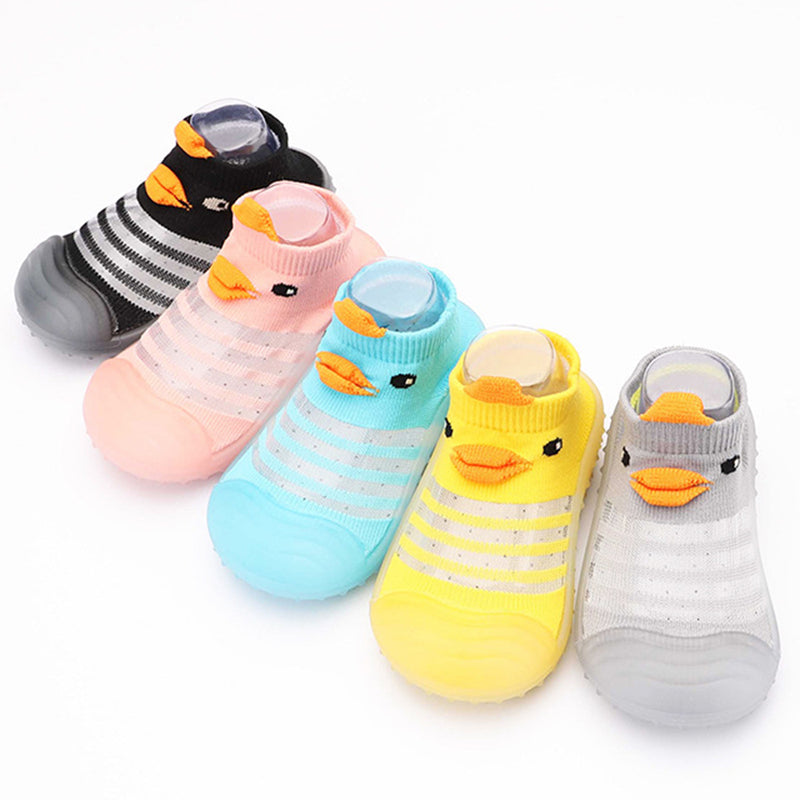 Baby Duck Cartton Stripe Knitted Shoes