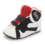 Baby Boys Elastic Band Letter Breathable Sneakers