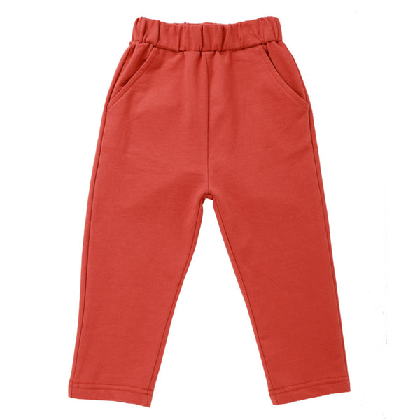 Boys Elastic Waist Solid Pocket Trousers Childrens Wholesale Clothes