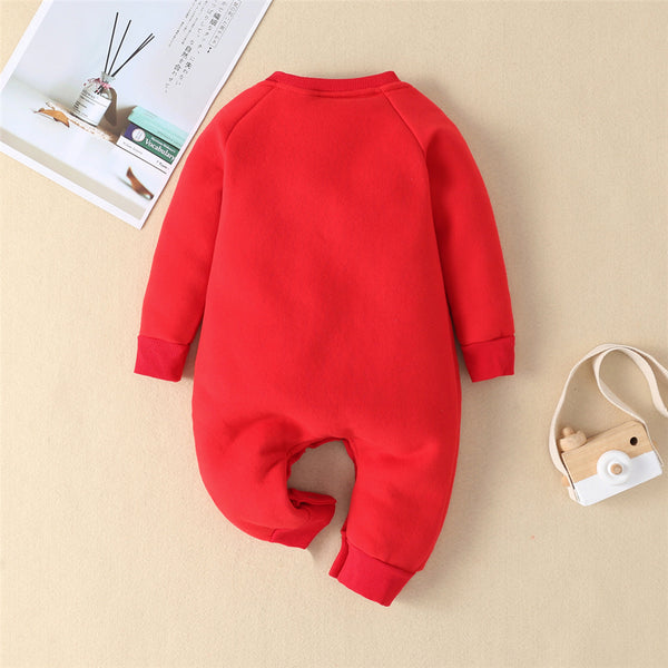 Baby Unisex Elk Winter Warm Romper Baby Clothes Wholesale Bulk