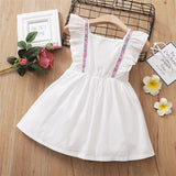 Baby Girls Embroidery Sleeveless Ruffle Princess Dress Baby Wholesale Clothing Suppliers