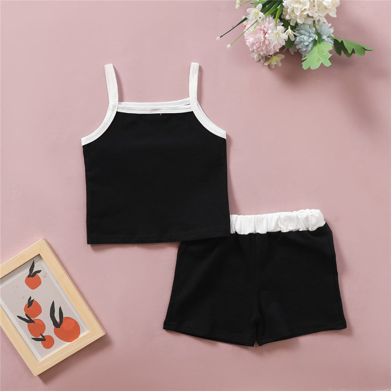 Girls Fashion Sling Top & Shorts Wholesale Girl Boutique Clothing