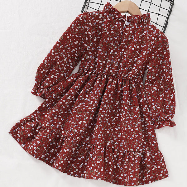 Toddler Girls Floral Printed Long Sleeve Wholesale Girls