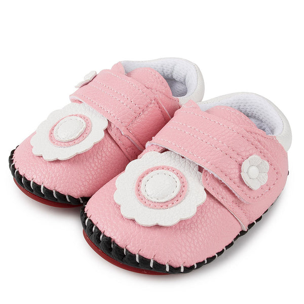 Baby Girls Flower Magic Tape Flats Shoes