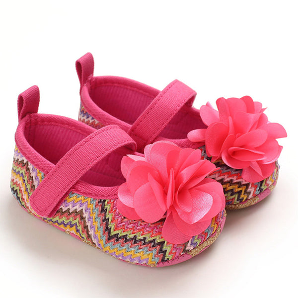 Baby Girls Flower Magic Tape Toddler Shoes Spanish Baby Shoes