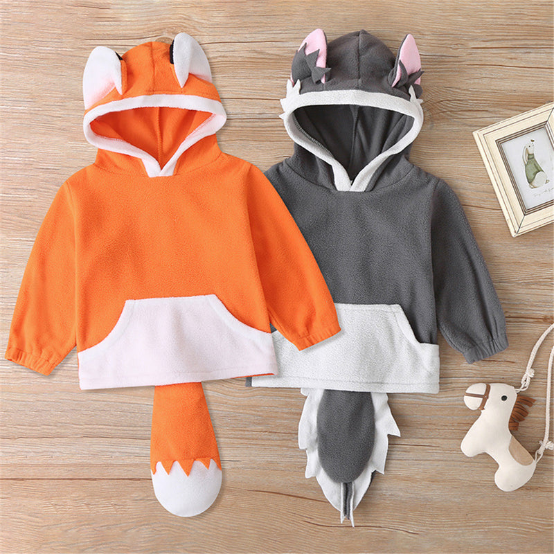 Baby Unisex Fox Pattern Long Sleeve Tops Baby Clothing Suppliers