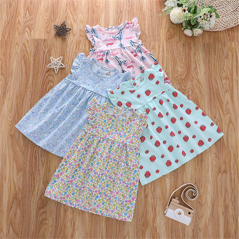 Baby Girls A-line Flying Sleeve Princess Dress Baby Wholesale Suppliers